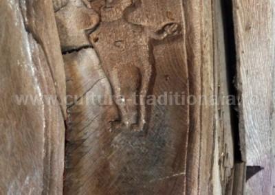 Attila Contz - Detaliu pe usa bisericii - Buzesti