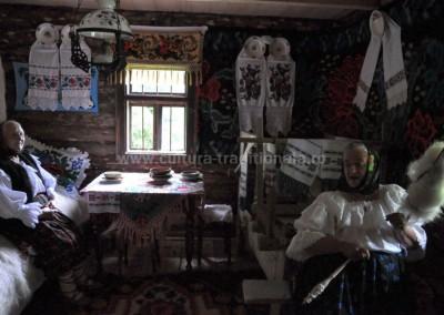 Gheorghe_Petrila - Interior de casa traditionala - Moisei