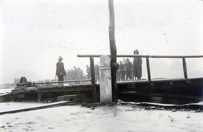 pod peste Tisa la Bocicoi 1913