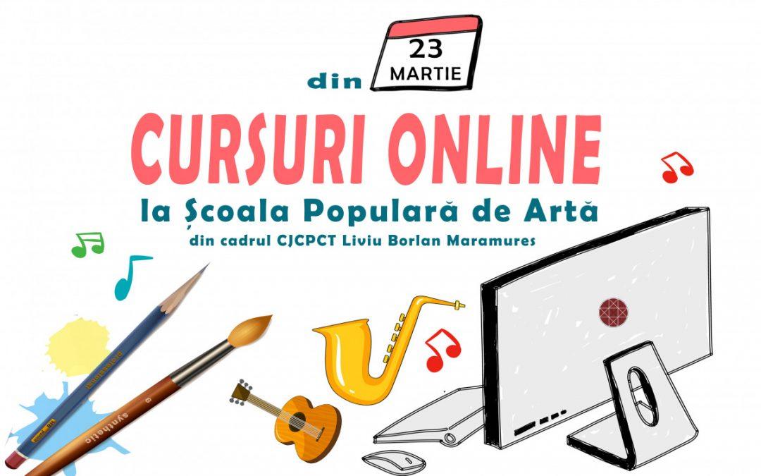 ANUNȚ: ȘCOALA POPULARĂ DE ARTĂ VA ȚINE CURSURI ONLINE!